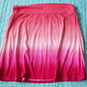 Pink Ombre Yoga Skirt